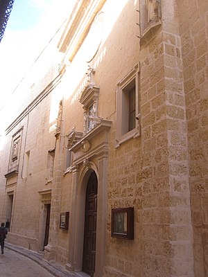 St Peter's Church and Monastery, Mdina - Image: St Peter's church and Monastery Mdina