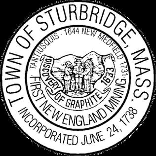 Official seal of Sturbridge, Massachusetts