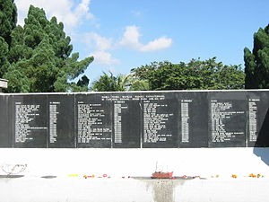 Malaysian Airline System Flight 653 - Names of the passengers and crew at the Tanjung Kupang Memorial