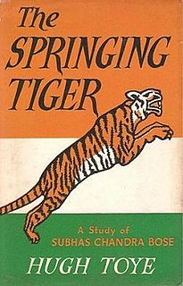 <i>The Springing Tiger</i> book by Hugh Toye