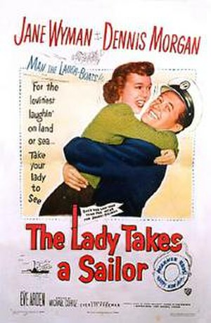 The Lady Takes a Sailor - Theatrical release poster