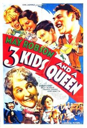 Three Kids and a Queen - Theatrical release poster
