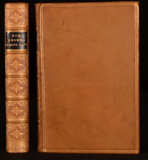 Tom Brown's School Days - Spine and cover of first edition.
