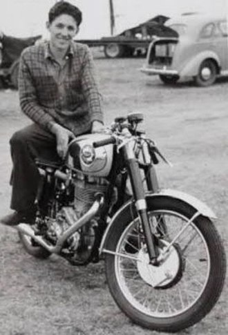 Tom Phillis - Phillis early in his career circa 1955 on his BSA Gold Star in Clubman's racing trim