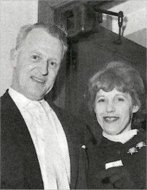 Norman Tucker - Tucker with Lotte Lenya at Sadler's Wells Theatre, 1958