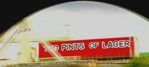 Two Pints of Lager and a Packet of Crisps - Title card seen throughout series run