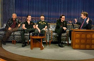 Late Night with Conan O'Brien - O'Brien interviewing U2 on Late Night
