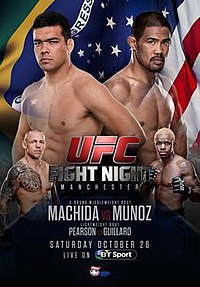 A poster or logo for UFC Fight Night: Machida vs. Munoz.