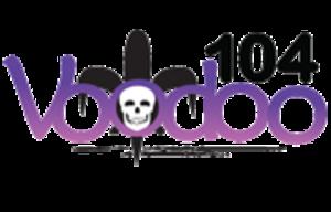 """KVDU - """"Voodoo 104"""" logo (2011-2017)"""