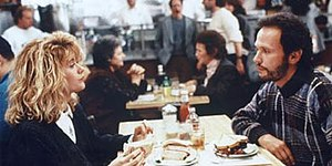 When Harry Met Sally... - Film still from the famous restaurant scene