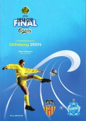 2004 UEFA Cup Final - Match programme cover