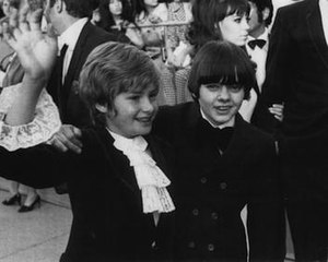 Jack Wild - Jack Wild (right) with Oliver! co-star Mark Lester at the 41st Annual Academy Awards, 14 April 1969.