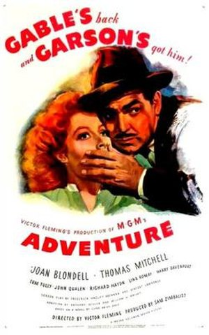 Adventure (1945 film) - Image: Adventure Film Poster
