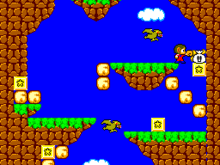 Ein Screenshot aus dem Videospiel Alex Kidd in Miracle World.
