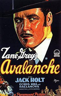 <i>Avalanche</i> (1928 film) 1928 film by Otto Brower