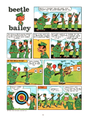 Beetle Bailey - A page from the comic book version of Beetle Bailey.