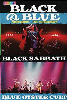 <i>Black and Blue</i> (video) 1981 video by Black Sabbath and Blue Öyster Cult