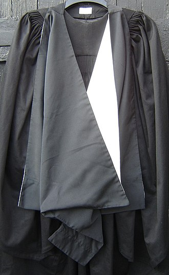Academic dress of the University of Cambridge - The Cambridge MA hood, which is worn, not as pictured, with the back flipped over to expose the white lining