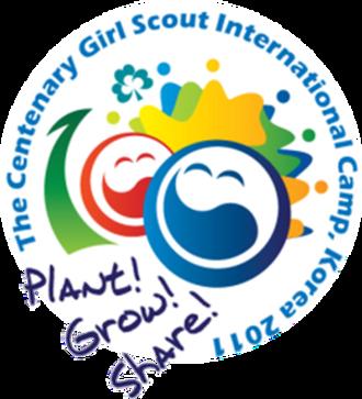 Guiding 2010 Centenary - Image: Centenary Girl Scout International Camp Korea 2011