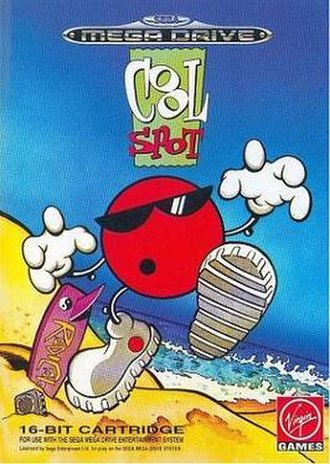 Cool Spot - Cover art for the European Mega Drive version