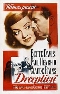 1946 American film with Bette Davis, Paul Henreid, and Claude Rains directed by Irving Rapper