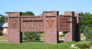 De Witt, Nebraska - Sign at the edge of De Witt