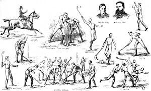 Dublin Senior Hurling Championship - The game of hurling illustrated by the Dublin Metropolitan Hurling Club in 1884.