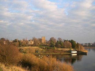 Duddingston - A view of Duddingston village from across the loch.