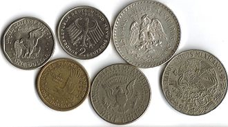 Coin collecting - Coins featuring eagles