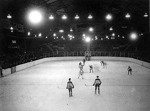 Edmonton Gardens - Hockey game at Edmonton Gardens 1940s.