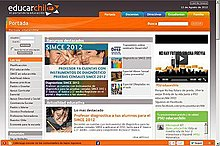 Screenshot of www.educarchile.cl on 12 August 2012