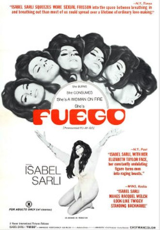 Fuego (1969 film) - Theatrical release poster