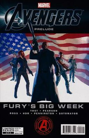 Fury's Big Week - Cover of chapter 2. Art by Gerald Parel.