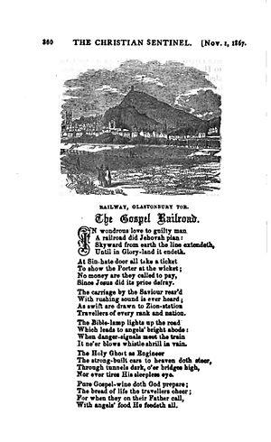 "The Gospel Train - ""The Gospel Railroad"" (1867)."