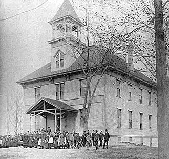 Gould Academy - The Original Gould Hall c. 1890; Hanscom Hall now stands where this building did.