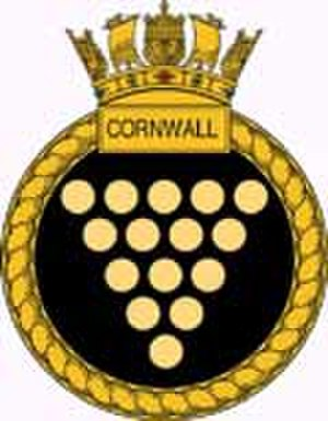 HMS Cornwall (F99) - Ship's badge