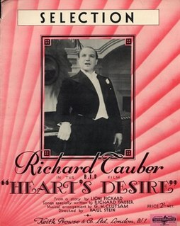 <i>Hearts Desire</i> (1935 film) 1935 film by Paul L. Stein