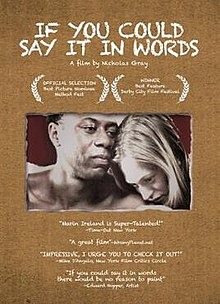If You Could Say It in Words movie