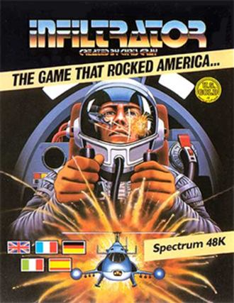Infiltrator (video game) - Spectrum 48K cover art