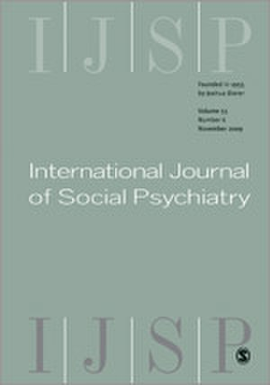International Journal of Social Psychiatry - Image: International Journal of Social Psychiatry front cover image