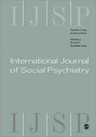International Journal of Social Psychiatry - Image: International Journal of Social Psychiatry front cover image