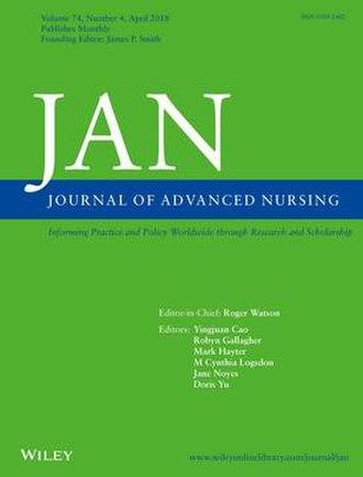Journal of Advanced Nursing - Image: JAN 2018 cover