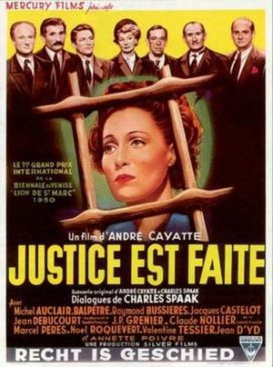 Justice Is Done - French Poster