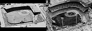 Municipal Stadium (Kansas City, Missouri) - Single decked and double decked