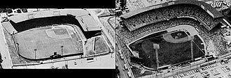 Municipal Stadium (Kansas City, Missouri) - Single decked and double decked