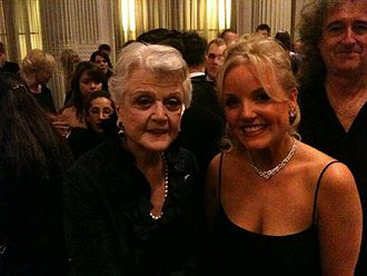 Kerry Ellis - Angela Lansbury, Kerry Ellis (centre) and Brian May at the 2011 Laurence Olivier Awards