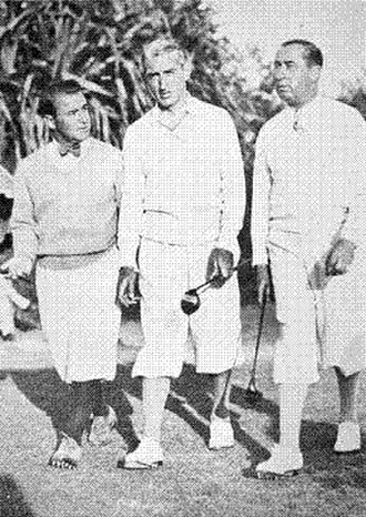 Canadian Open (golf) - Gene Sarazen, Tommy Armour, and Walter Hagen at Lakeview Golf Club in Mississauga in 1934.