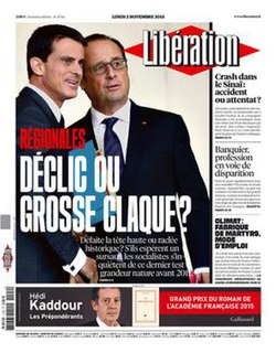 <i>Libération</i> French daily newspaper