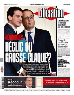 Libération - Image: Libération frontpage