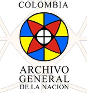 General Archive of the Nation (Colombia) - Image: Logo Archivo General de la Nación